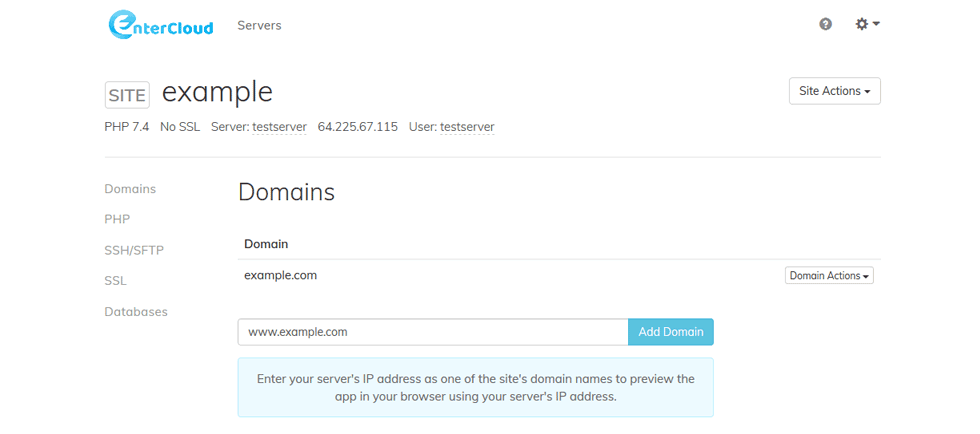 Install WordPress with One-Click